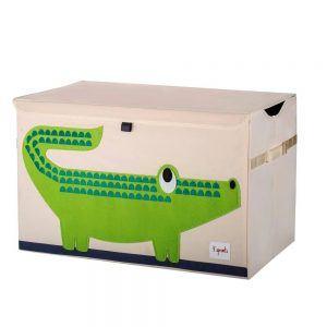 Baule Portaoggetti Coccodrillo Verde 3 Sprouts - 3SUTCCRO