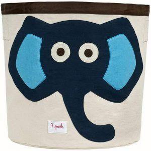 Cesto Portaoggetti Elefante Blu 3 Sprouts - 3SUBNELB