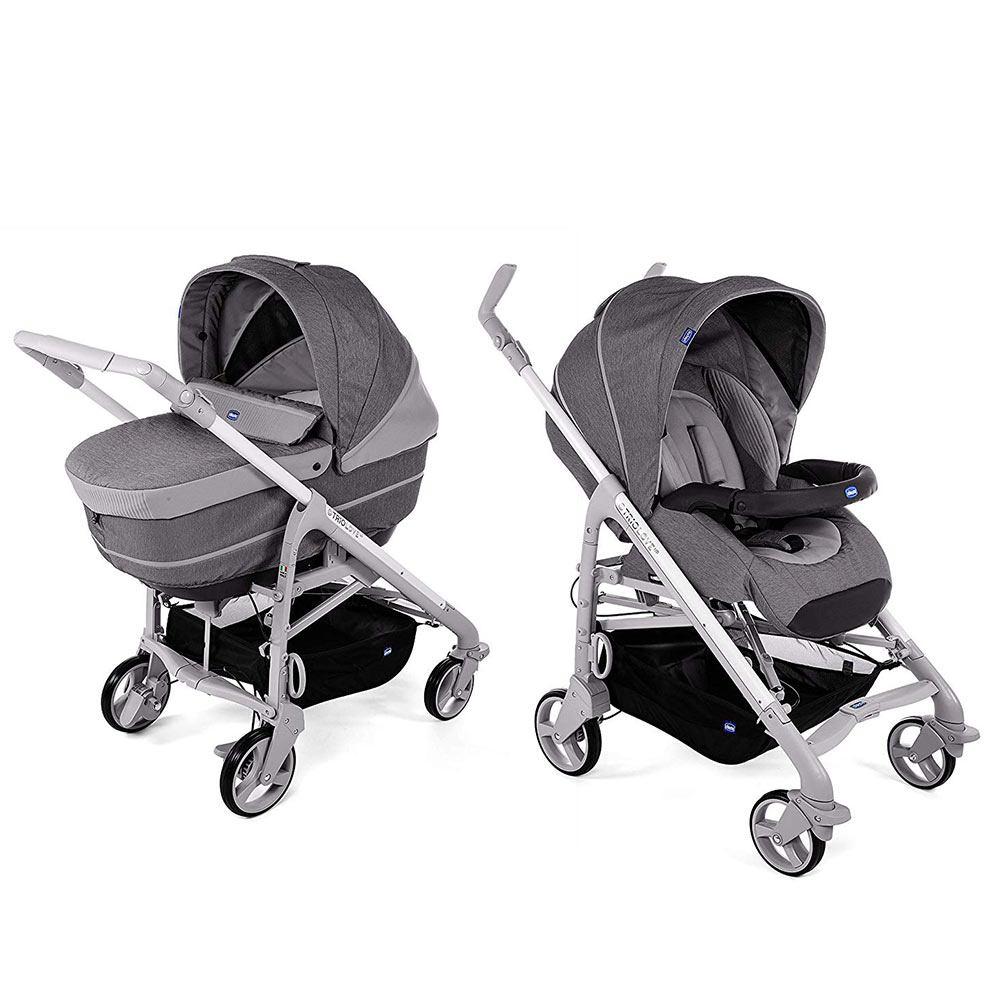 Passeggino Trio Love Up Cool Grey con Seggiolino Auto Oasy 0+ Bebè Care Titanium Special Edition Chicco - TRIOCHICCOTITANIUM