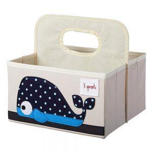 Porta Pannolini Caddy Balena Blu 3 Sprouts - 3SUDCWHL