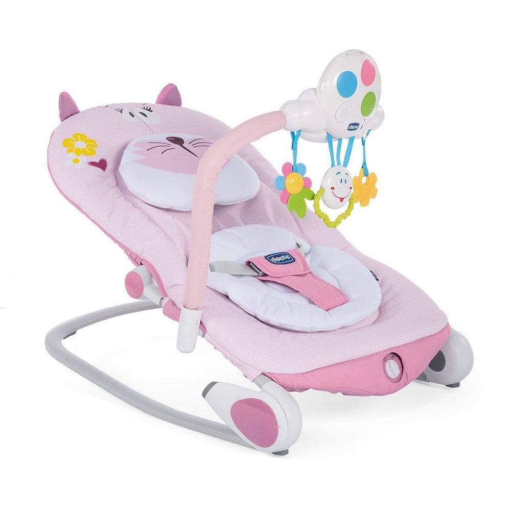 Sdraietta Elettrica Neonato Ballon Miss Pink Rosa Chicco - 05079128810000