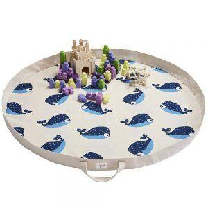 Tappeto Gioco e Borsa 2 in 1 Balena Blu 3 Sprouts - 3SUPMWHA