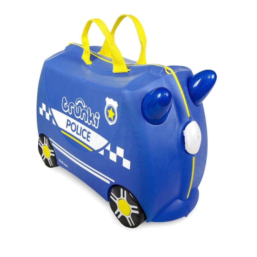 Valigia Cavalcabile Percy Macchina della Polizia Trunki - 0323GB01