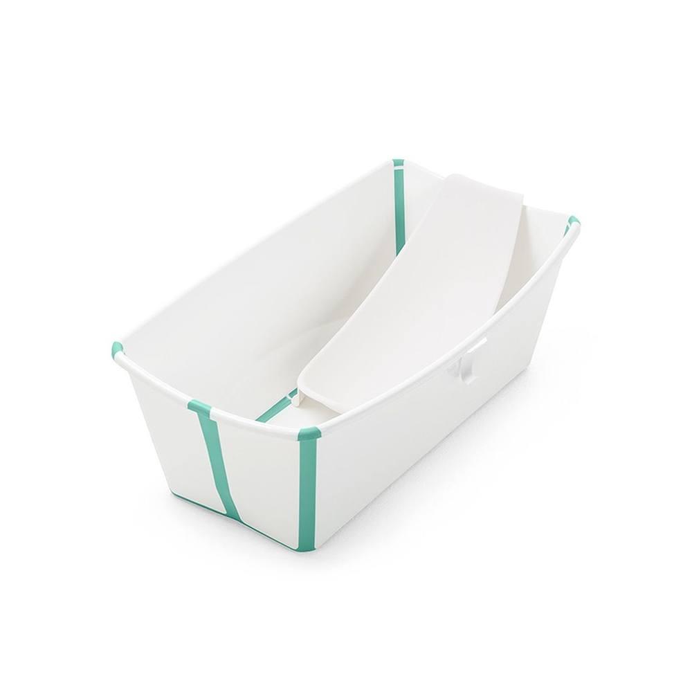 Vaschetta Pieghevole con Riduttore Flexi Bath Verde Trasparente Stokke - 531505