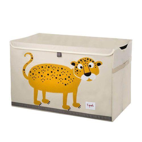 Baule Portaoggetti Leopardo Giallo 3 Sprouts – 3SUTCLEO