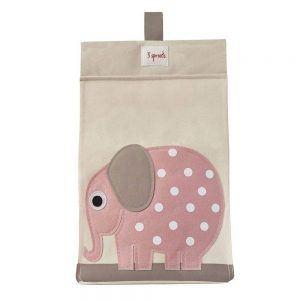Porta Pannolini Universale Elefante Rosa 3 Sprouts - 3SUDSELE