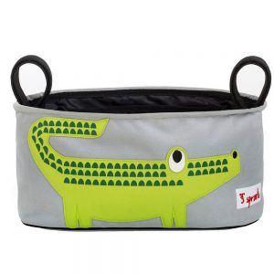 Portaoggetti per Passeggino Coccodrillo Verde 3 Sprouts - 3SUSOCRO