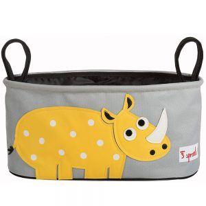 Portaoggetti per Passeggino Rinoceronte Giallo 3 Sprouts - 3SUSORHO