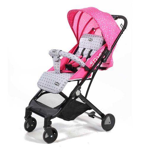 Passeggino per Bambini Small con Custodia Grigio e Rosa Nunù – BKB426GP