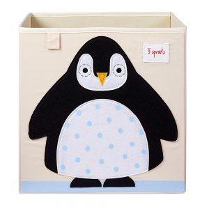 Contenitore Portaoggetti Pinguino Nero 3 Sprouts - 3SIBXPEN