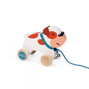 Cagnolino da Trainare di Legno Bulldog Janod - J08216