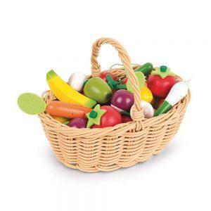 Cestino 24 Frutti e Verdure Miste in Legno Janod - J05620
