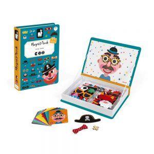 Gioco Educativo Magneti Book Crazy Faces Janod - J02716