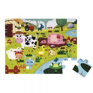 Puzzle Tattile Gli Animali della Fattoria Janod - J02772