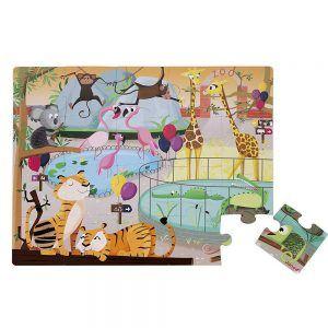 Puzzle Tattile Una Giornata allo Zoo Janod - J02774