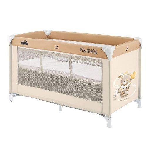 Lettino per Bambini Pisolino Orsetto Beige Cam – L117243