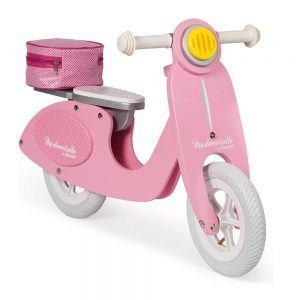 Bicicletta Scooter senza Pedali in Legno Mademoiselle Rosa Janod - J03239
