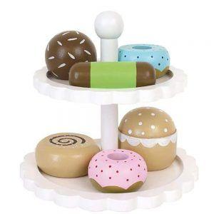 Piatto per Torta mix Cookies in Legno Jabadabado - T226