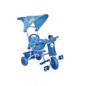 Triciclo per Bambini con Cappottina Azzurro Colibri - 119003