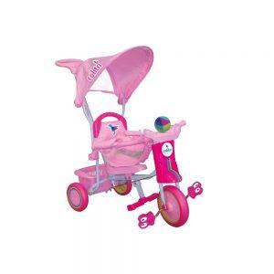 Triciclo per Bambini con Cappottina Rosa Colibri - 119004