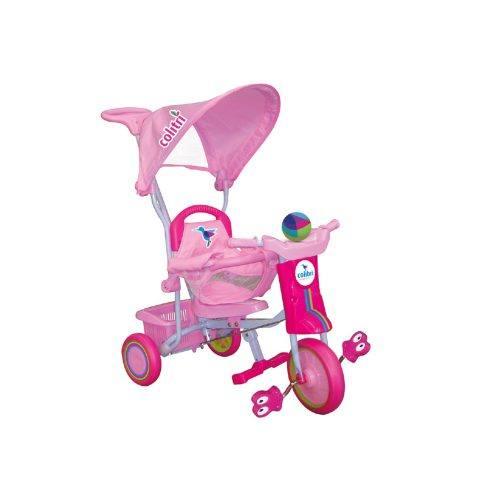 Triciclo per Bambini con Cappottina Rosa Colibri – 119004
