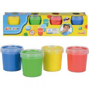 Set 4 Vasetti Colori A Dita Art & Fun Simba - 106334998