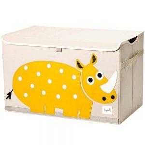 Baule Portaoggetti Rinoceronte Giallo 3 Sprouts - CA51640