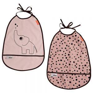 2 Bavagli Impermeabili Elefante Rosa Done by Deer - 1393671