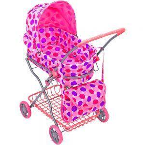 Carrozzina per Bambole con cesta e borsa Globo - 2167