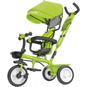 Triciclo in Metallo a Pedali con Parasole Verde Globo - 53835