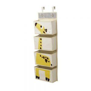 Organizer da Muro con 4 Tasche Giraffa 3 Sprouts - 3SIWOGRF