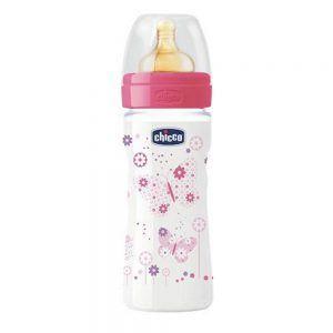 Biberon 250 ml Fiori Rosa Chicco - 707222100000