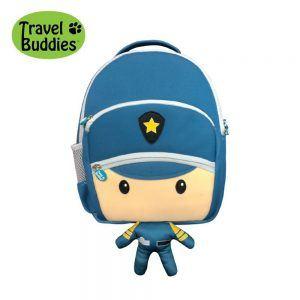 Zainetto per Bambini Poliziotto con GPS Travel Buddies - TB121B