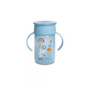 Bicchiere Antigoccia 360 Gradi Celeste Suavinex - 3400765