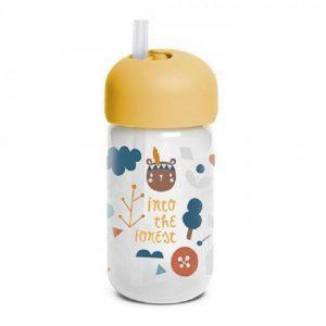 Bicchiere con Cannuccia Arancione Suavinex - 3400766