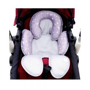 Cuscino Riduttore per Passeggino Grigio con Stelle e Lune Safety Baby - TT000091