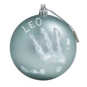 My Christmas Fairy Pallina di Natale in Plastica Blu con Kit Impronta Baby Art - 34120155