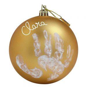 My Christmas Fairy Pallina di Natale in Plastica Oro con Kit Impronta Baby Art - 34120154
