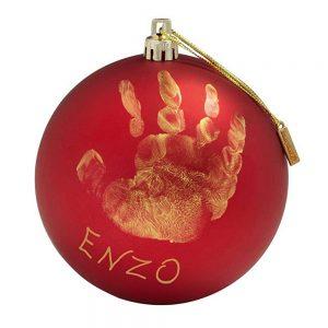 My Christmas Fairy Pallina di Natale in Plastica Rossa con Kit Impronta Baby Art - 34120153