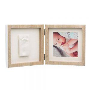 Portafoto in Legno con Kit Impronta Mani e Piedi Baby Art - 3601098300