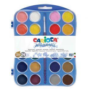 Acquarelli Colori Assortiti 24 Pz Carioca - 42401