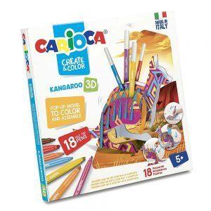 Pennarelli Crea e Colora Canguro 3D Carioca - 42903