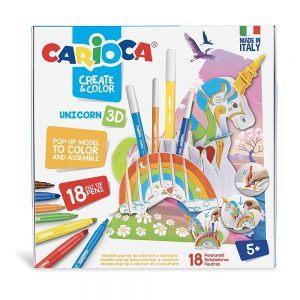 Pennarelli Crea e Colora Unicorno 3D Carioca - 42986