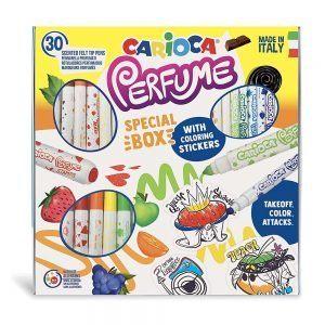 Scatola Speciale Pennarelli Profumati con Adesivi da Colorare Carioca - 43082