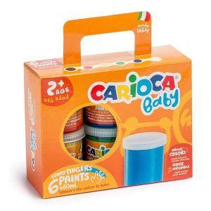 Set di Tempere a Dita Superlavabili Carioca Baby - KO032