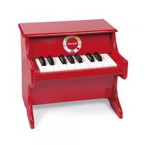 Pianoforte Verticale in Legno Rosso Confetti Janod - J07622