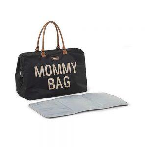 Borsa Fasciatoio Mommy Bag Nera e Oro Childhome - CWMBBBLGO