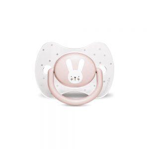 Ciuccio con Tettina Reversibile Coniglio Pois Rosa Crystal Suavinex - 306600
