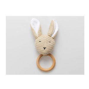 Massaggiagengive in legno Coniglietto Panna Bamboom - 80808