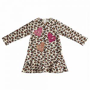 Abitino Bambina Leopardato con Cuori Sarabanda - DD314400